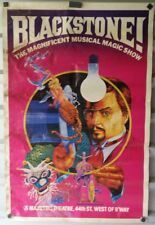 Vintage Poster Blackstone The Magnificent Musical Magic Show Majestic Theatre NY