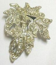 pince crochet déco ancien accessoire vintage coul argent cristaux diamant * 4691