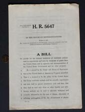RARE 1965 US House of Representatives Congress Animal Cruelty Bill HR 5647-LABS!