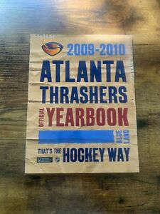 Atlanta Thrashers 2009-2010 Official Yearbook in Blue Land Ex Condition