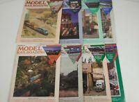 Model Railroading Magazine Lot Of 8 1991