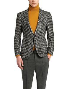 Hugo Boss Men's 'T-Reece' Tailored Fit Check Wool Alpaca Jacket Blazer 34R