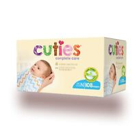 Cuties Complete Care Baby Diaper SIZE N, 0-10 lbs., Newborn, CCC10 - Case of 108