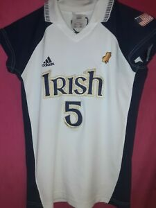 Adidas Notre Dame Irish Soccer Jersey Womans M 04 01 Real Deal #5 Game Worn?