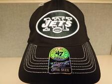 NY New York Jets Mens Adult Unisex Sizes OSFA 47' Brand Stretch-Fit Hat