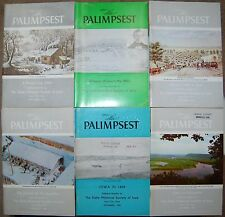 6-Palimpsest Mags inc. Iowa in the 1850's, Pioneer Log cabin, Mormon Trail etc.