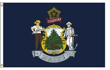 5'x8' Nylon Maine State Flag - Outdoor Flag - New in Package