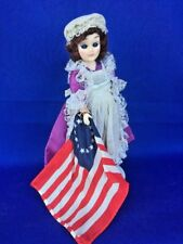 Betsy Ross Carlson Doll Colonial Star American USA Flag Dress Eyes Open Close ❤️