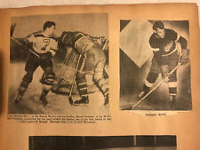 VINTAGE 1940s DETROIT RED WINGS SCRAPBOOK WITH GORDON GORDIE HOWE ROOKIE YEAR