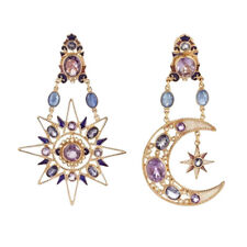 FT- Women Rhinestone Boho Sun Moon Drop Dangle Stud Earrings Jewelry Gift Health