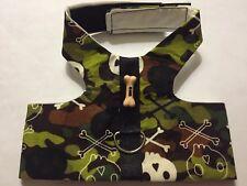 Skull Head Camo Print Dog Harness vest XXS 433-435