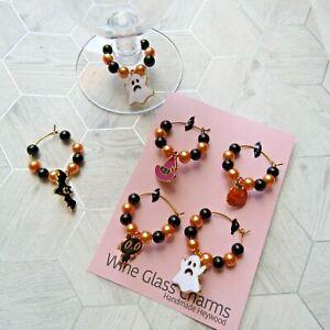 Halloween Wine Charms - Handmade - Set of 4