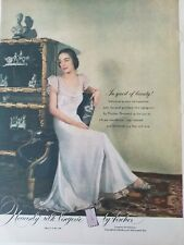 1948 women's Heavenly silk lingerie by Fischer  vintage fashion ad