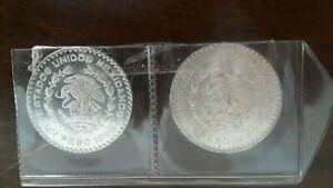 Two mexico un peso 1963 &1966