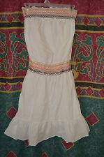 Women Mossimo summer dress;100% Cotton;White;Multi color;Halter;Boho;S/M