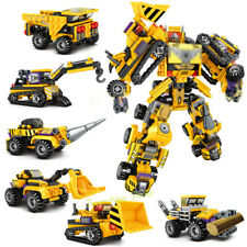 6in1 Transformation Robot Building Blocks Engineering Vehicle Toys Bricks 587pcs