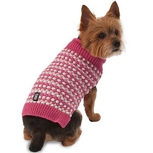 Popper's Popcorn Sweater for Dogs by Petrageous PINK NWT XL EXTRA LARGE