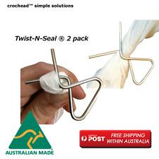 Crochead Stainless Steel Camping Kitchen Twist N Seals Bag Sealer x 2