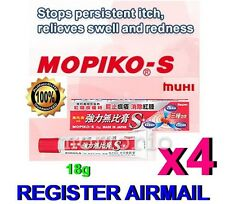 Mopiko-s Ointment Extra Strength Insect Mosquito Bites 18g fast swell relief x 4