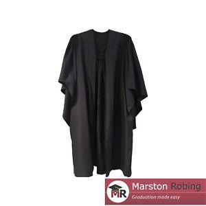 University Academic Graduation Gown Fully Fluted BA Bachelor--Virtual Graduation