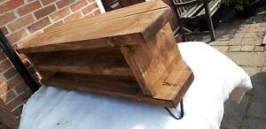 Corner Rustic Pine TV Unit solid wood stand/cabinet -rustic  oak  finish 130 cm