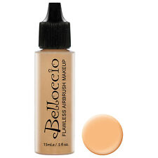 Belloccio Pro Airbrush Makeup GOLDEN TAN SHADE FOUNDATION Flawless Face Cosmetic