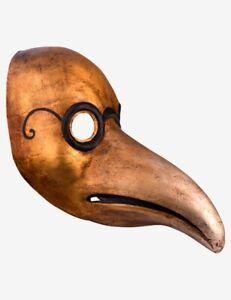 Masque Vénitien Le Mèdecin de la peste Or Fait à la Main à Venise!