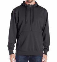 Clique Men's Archery Half-Zip Hoodie Hooded Sweatshirt Navy/Orange Size XL