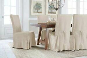 Serta 1 Piece Short Dining Chair Smooth Suede Relaxed Slipcover