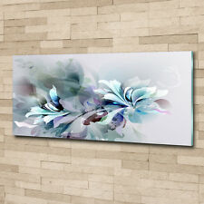 Glas-Bild Wandbilder Druck auf Glas 125x50 Blumen & Pflanzen Abstrakte Blumen