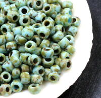 TOHO Seed Beads, Size 6/0, Hybrid Opaque Cornflower w Picasso Finish, 10 Grams