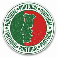 2 x Vinyl Stickers 10cm - Portugal Flag Map Lisbon Cool Gift #5168