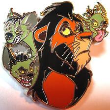 Disney Pin SCAR and 3 HYENAS Lion King VILLAIN Sidekick