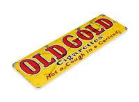 TIN SIGN Old Gold Cigarette Tobacco Metal Décor Smoke Shop Store Bar A878