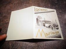 Ancienne Carte Commerciale LOCATION MARIAGE de Voiture de Luxe Renault Lyon