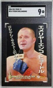 2006 Pride FC #014 Fedor Emelianenko Rookie Card RC SGC 9 Mint POP 2 UFC MMA