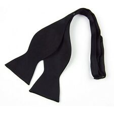 Men's New Black Fashion Adjustable  Multi Color Silky Self Bow Tie Necktie Ties