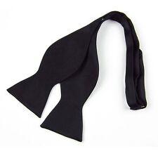 Men's New Black Fashion Adjustable  Multi Color Silk Self Bow Tie Necktie Ties