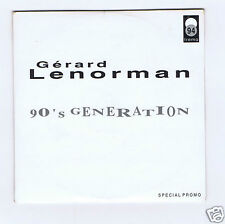 CD SINGLE NEUF GERARD LENORMAN 90'S GENERATION