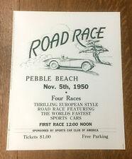 Pebble Beach Road Race Poster , 1950