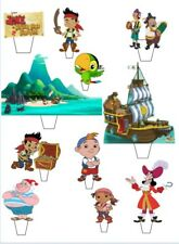 Jake Neverland Pirate Stand Up Cake Scene Edible Cake Topper-Easy To use Pre-Cut