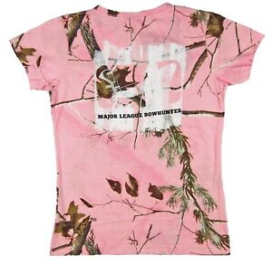 Womens Major League Bowhunter Paint Roller T-Shirt Classic Fit Realtree Camo M