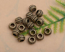 20/50/100Pcs Tibetan Silver Charm Tube Spacer Beads Jewelry Findings DK235