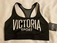 Victoria's Secret The Player Sports Bra Size Large L Racerback Black NEW