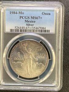 Mexico 1984-Mo Onza / PCGS MS67+ / Light Toning &*No Reserve!