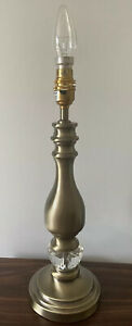 Vintage Style Gold Brushed Nickel Lamp Base Attractive decorative Glass Insert