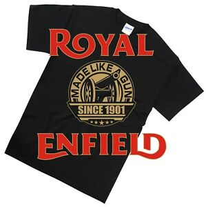 Royal Enfield T Shirt Biker Cafe Racer Classic Retro Motorcycle Gift 5XL-S Sizes