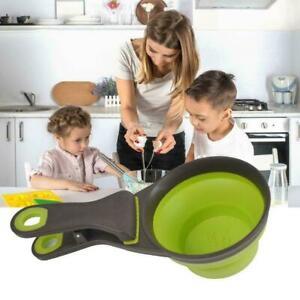 Pet Cat Dog Food Feeder Spoon Folding Sealing Clip Bowl Cup Scoop HOT B3H0
