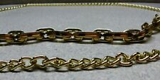 Chico's TIGER EYE  Gold-Tone  Chain Belt ~ 52