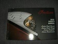 Betriebsanleitung Bedienungsanleitung Rider's manual Indian Motorcycle 2015